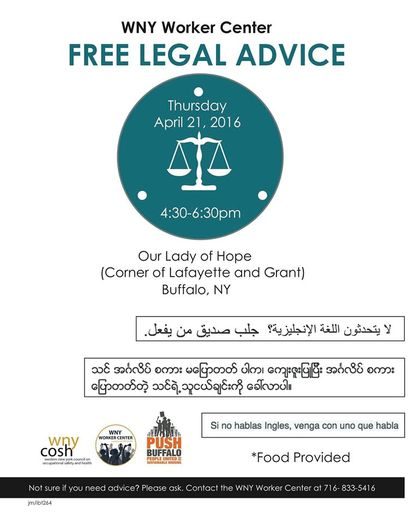 Free legal april 21st Burmese and English