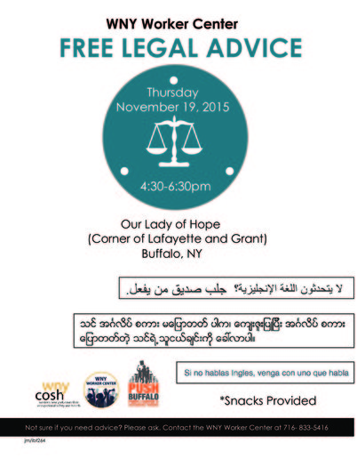 Free legal advice flier nov 2015